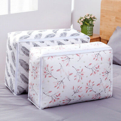 Foldable Storage Bag Clothes Blanket Quilt Closet Organizer Box Pouch Waterproof