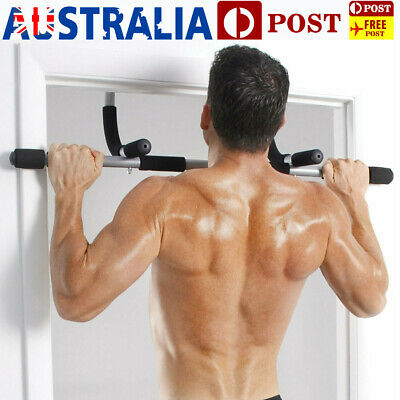 Door Chin Up Bar Pull Up Doorway Home Gym Strength Workout Fitness Abs Training