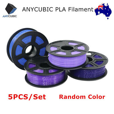 AU ANYCUBIC PLA 3D Printer Filament 5Pcs/Set 1.75mm 1kg/roll Random Colours