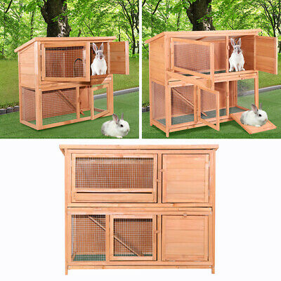 3Ft/4Ft Rabbit Hutch/ Guinea Pig Run/ Deluxe Pet Hutches/ Ferret Cage Pets House