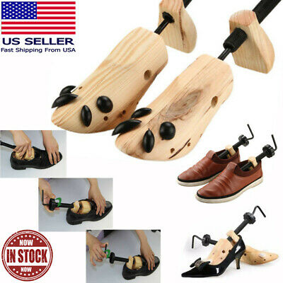 2pcs Pro 2-way Wooden Shoe Stretcher for Men/Women US Size 4.5-12 Adjustable