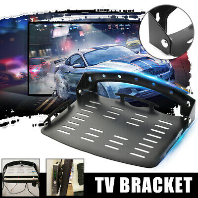 UK TV Bracket Wall Mount Shelf Under Component for PS4 DVD XBOX Cable Black