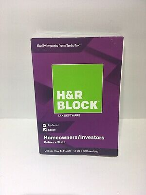 H&R Block 2018 Deluxe + State Tax Software Homeowners/Investors