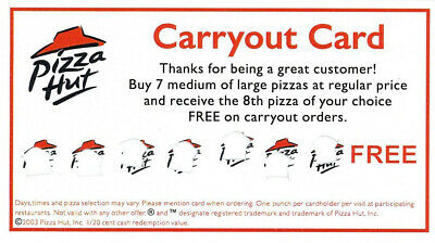 4 Pizza Hut Carry-Out Pizza