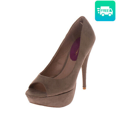 RRP €305 ALBERTO MORETTI Court Shoes Size 40 UK 7 High Heel Suede Effect