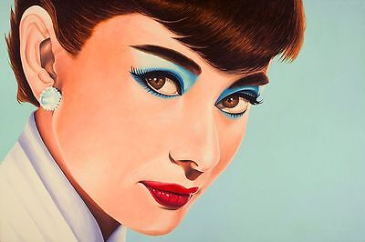 AUDREY HEPBURN VINTAGE MOVIE attrice Wall Art POSTER stampa A0 A1 A2 A3 A4 MAXI Collezionismo Arte