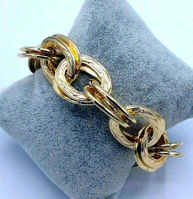 Bracciale In Oro 14 Kt Tit 585 Demirouge. Vintage, Anni '70