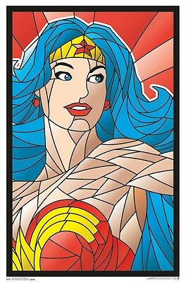 Wonder Woman - Neon Blacklight Poster - 23X35 Flocked Dc Comics 14526