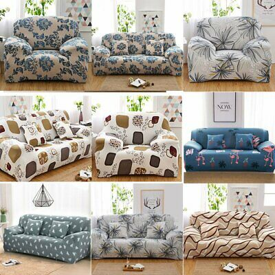 2/3/4 Seater Sofa Covers Slipcover Elastic Stretch Settee Floral Couch Protector
