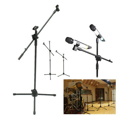Telescopic Boom Microphone Mic Stand Holder Mount Arm Tripod Filter Adjustable