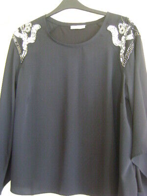 Per Una Top Size 20    Beautiful Detail     Bell Sleeves