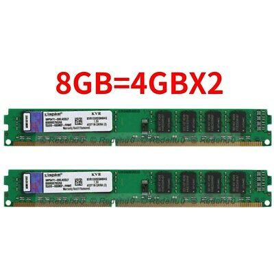 for Kingston 8GB 2X4GB DDR3 1333MHZ 240Pin 1.5V DIMM PC3-10600U Desktop Memory