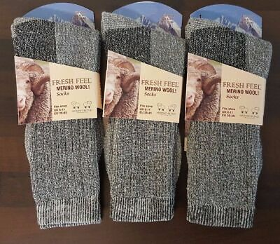 Men's Merino Wool Socks Outdoor Walking Work Boot thermal Socks soft wear  6-11