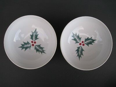 Denby Langley HARLEQUIN Holly Green Soup Cereal Bowl, Set of 2