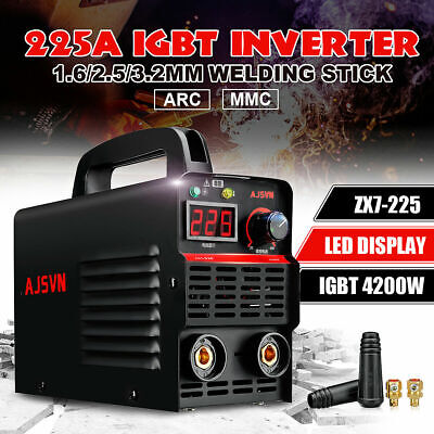 220V 20A-225A LCD Welding Inverter Machine MMA/ARC Stick Welder IGBT Portable UK