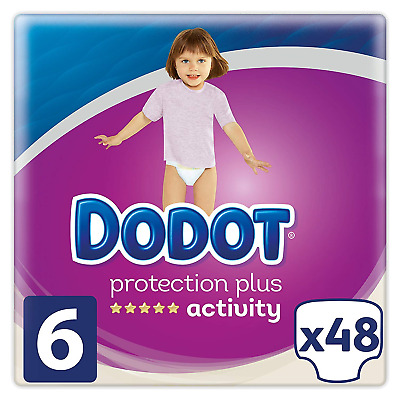 Dodot Nappies Protection Plus Activity 13 + kg, Size 6 for Babies – 48 Nappies