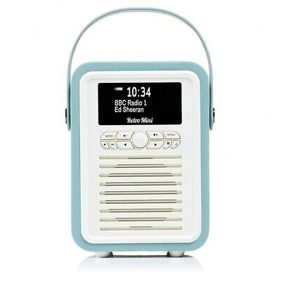 VQ Retro Mini Portable DAB & FM Radio with Bluetooth Mint (Refurbished)
