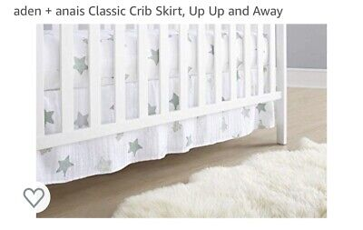 ADEN + ANAIS CRIB SKIRT Up Up And Away. Elephant and Stars. NWOT.