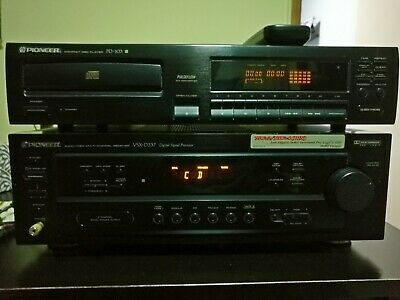Pioneer CD Player PD-103 with VSX-D337 Audio/Video Receiver and Accusound spkrs