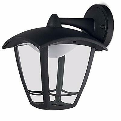 Luceco LED Top Arm Four Panel Coach Lantern IP44 Rated 8W Black