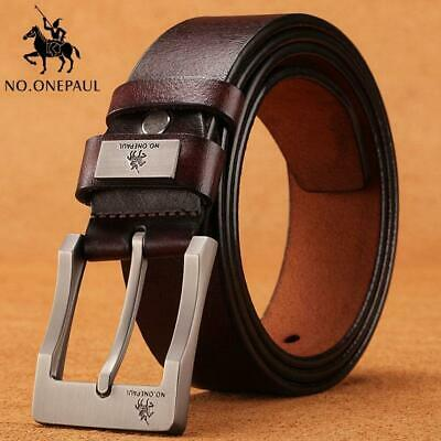 NO.ONEPAUL cow genuine leather luxury strap male belts for men new fashion class
