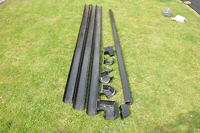JOB LOT 3x 3Mtr LENGTHS 114mm SQUARE GUTTERING 1x 2.5Mtr DOWN PIPE AND FITTINGS