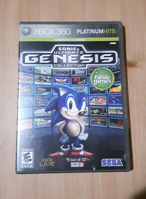 Sonic's Ultimate Genesis Collection (Microsoft Xbox 360, 2009) Disc/Case Only