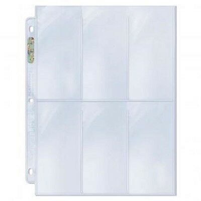 25 loose Ultra Pro 6 Pocket Pages Coupon Tall Card Storage Sheets Holder