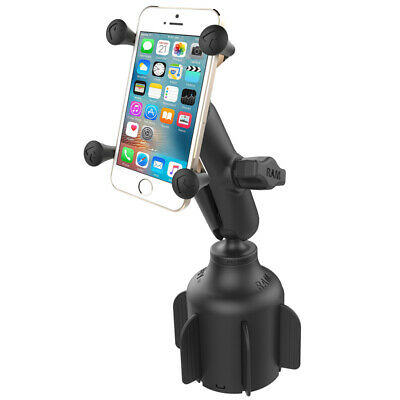 RAM Stubby Cup Holder Base Mount with X-Grip Holder for Cell Phone / GPS
