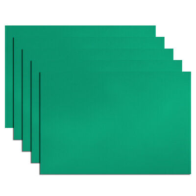"5Pcs Dry Erase Flexible Magnetic Strip 11.7"" x 8"" Labels Stickers Writable Green"