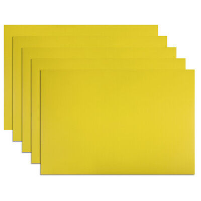 "5 Pcs Dry Erase Flexible Magnetic Strip 11.7"" x 8"" Labels Stickers Yellow"
