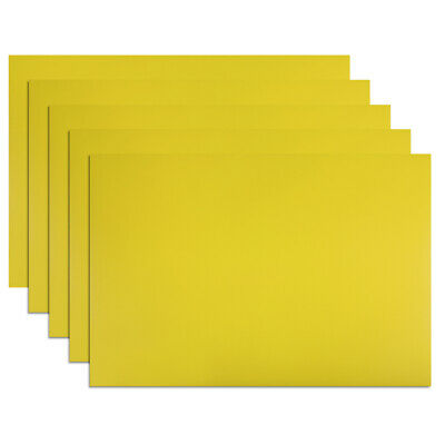 """5 Pcs Dry Erase  Magnetic Strip 11.7"""" x 8"""" Labels Stickers Yellow"""