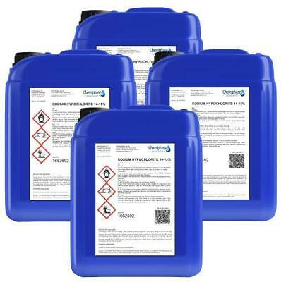 Sodium Hypochlorite 14-15% Patio Cleaner / Swimming Pool Chlorine - 20 Litre's