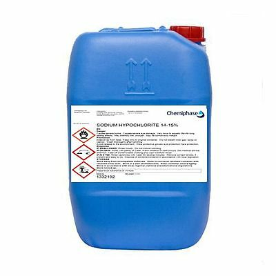 Sodium Hypochlorite 14-15% Patio Cleaner / Swimming Pool Chlorine - 20 Litre
