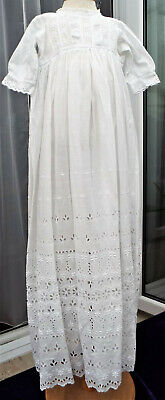 Vintage Baby Christening Gown/Broderie Anglais