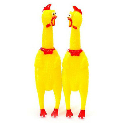 Yellow Screaming Chicken Rubber Pet Dog Toy Pet Supplies Squeaky Chew Toy