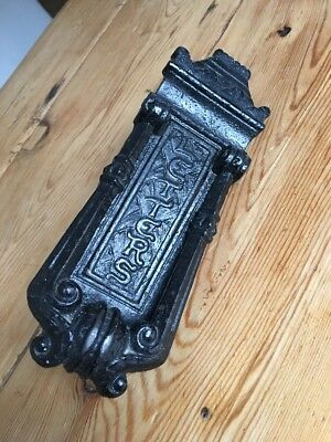 Victorian Kenrick & Son 440 Antique Cast Iron Door Knocker Period Old Letterbox