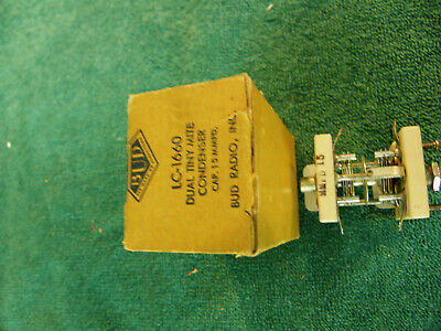Vintage Air Variable Capacitor BUD LC-1660 Dual Tiny Mite 15 mmf dual gang NOS