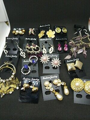 Wholesale joblot 16 pairs  costume jewellery earrings (4)
