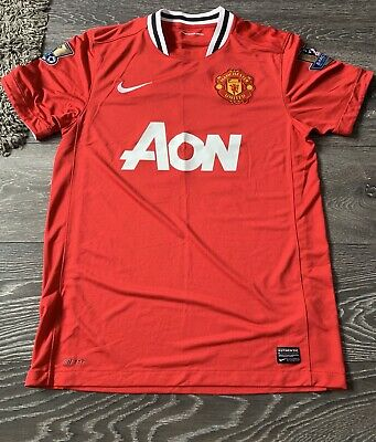 hot sale online ea21e 05ae7 MAN UTD MANCHESTER United 2011-2012 Home Shirt Jersey Medium M