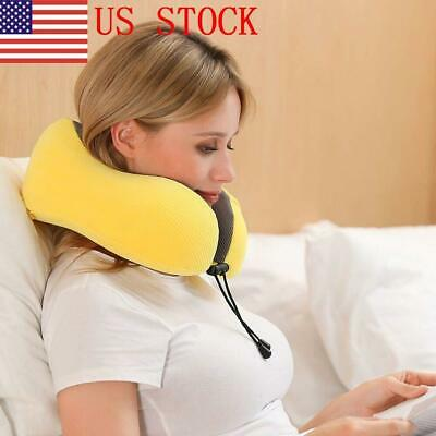 US STOCK Unisex Travel Pillow U-shape Memory Foam Neck Pillows For Travel New