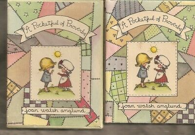 1965 A Pocketful Of Proverbs by Joan Walsh Anglund in box and with dust jacket