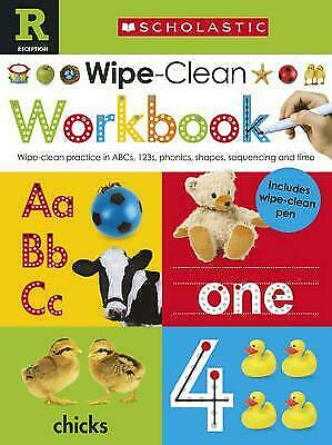 Reception School Wipe Clean Workbook Abc 123'S Phonics Shapes Time & Sequencing