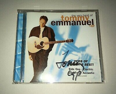 Tommy Emmanuel - The Very Best Of (2 CD's) SIGNED COVER 2001 Sony Records