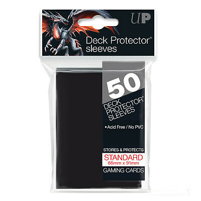 600 Ultra Pro Solid BLACK Deck Protector CCG MTG Pokemon Gaming Card Sleeves