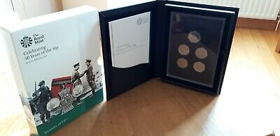 50 years of the 50p Base Proof Military Coin Proof Set Royal Mint Brand New 2019
