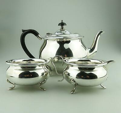Antique Silver Plate: A three piece electroplate Teaset - early 20thC