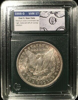 Nice High-Grade 1888-O VAM 17 Oval O Near Date Variety Morgan Silver Dollar