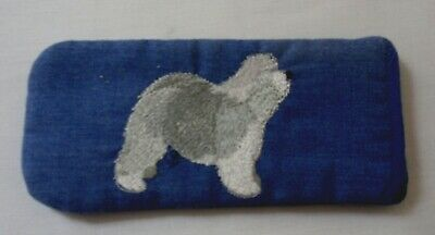 Old English Sheepdog - Embroidered -  Glasses Case