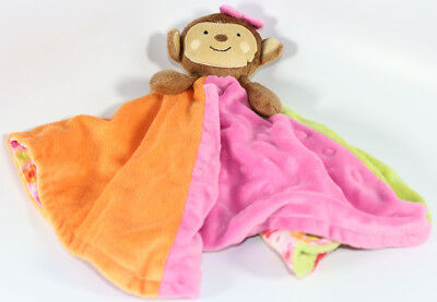 Koala Baby MINKY DOTS BROWN MONKEY LOVEY SECURITY BLANKET Soft PLUSH BABY TOY